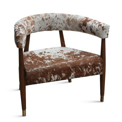 Dallas Stockyard Arm Chair Cowhide