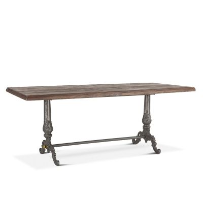 "French Vintage 76"" Dining Table Weathered Gray"
