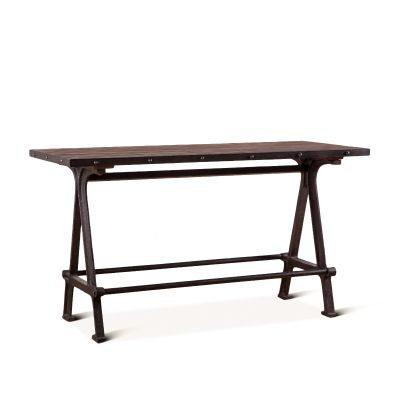 "Industrial Teak 66"" Reclaimed Wood Gathering Table"