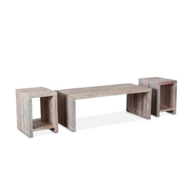 Ibiza Reclaimed Wood Occasional Table Set