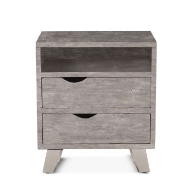 "London Loft Night Chest 23"" Weathered Gray"