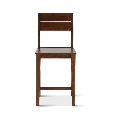 Mozambique Wooden Counter Chair Walnut
