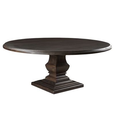 "Nimes 72"" Round Dining Table Vintage Java"