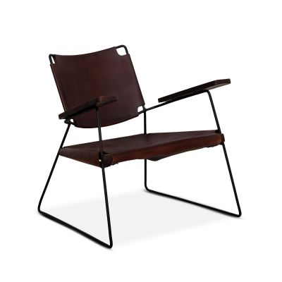 New York Cordovan Leather Chair
