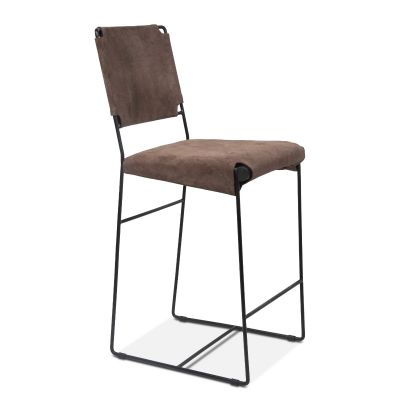 New York Counter Chair Asphalt Suede Leather