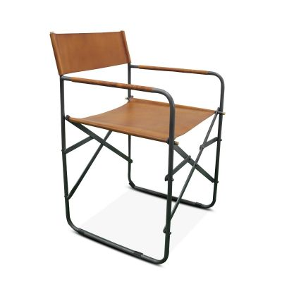 New York Campaign Chair Tan Leather
