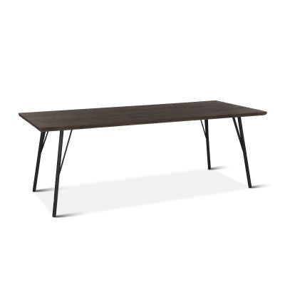 "New York 86"" Dining Table Black Weathered Teak"