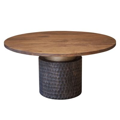 "Santa Cruz Round Dining Table 60"" Two-Toned"