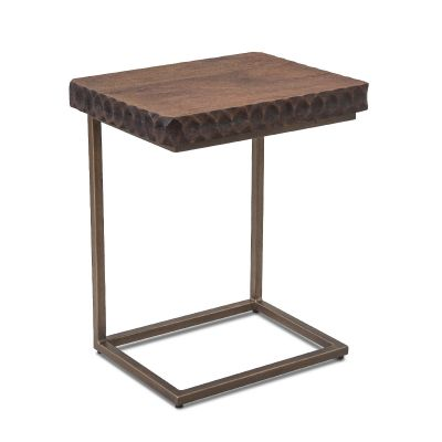 "Santa Cruz Accent Side Table 18"" Two-Toned"
