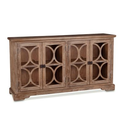 "San Rafael Glass Cabinet 67"" Antique Oak"