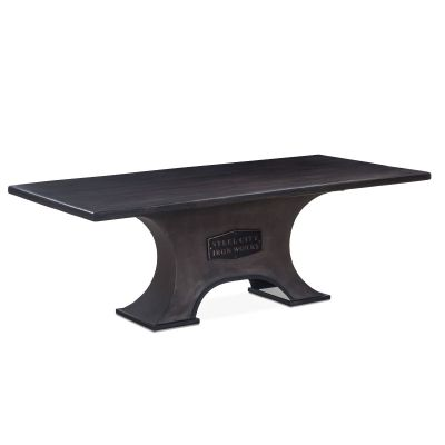 "Steel City 84"" Dining Table Desert Brown"