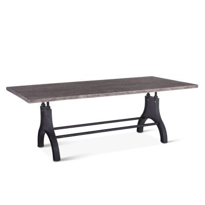 "Steel City Dining Table 96"" Weathered Gray"