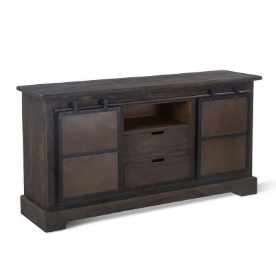 "Steel City Sideboard 66"" Desert Brown"
