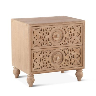 "Taj Night Chest 24"" Whitewash"