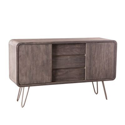 "Vail 59"" Sideboard Weathered Gray"