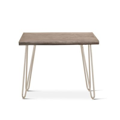 "Vail 26"" Side Table Weathered Gray"
