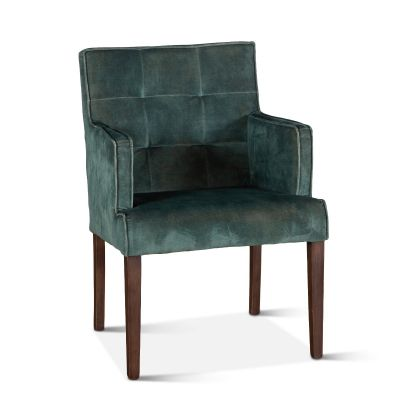 Madison Arm Chair Weathered Green Velvet