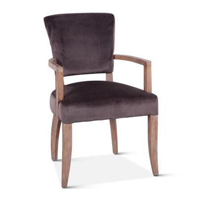 Mindy Arm Chair Asphalt Velvet