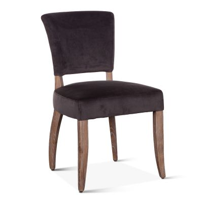 Mindy Side Chair Asphalt Velvet