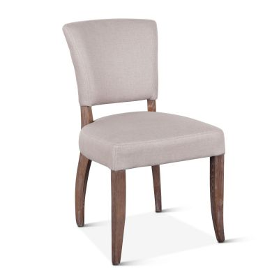 Mindy Side Chair Beige Linen