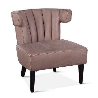 Mason Armchair in Stone Gray Leather