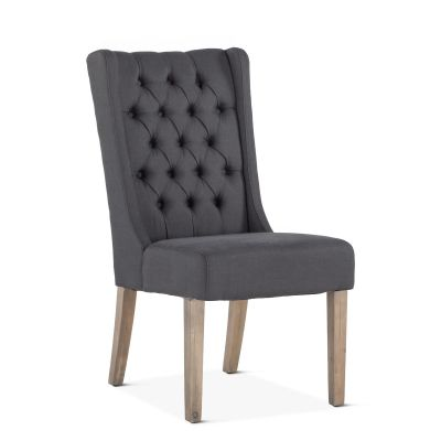 Lara Dining Chair Gray with Napoleon Legs