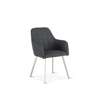 Thompson Gray Felt Fabric Dining Armchair