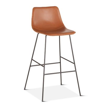 Curtis Eco-Leather Bar Chair Tan
