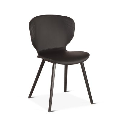 Harvey Black Eco-Leather Dining Chair