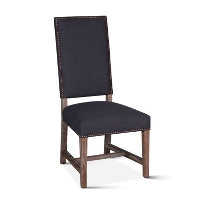 Darcy Dining Chair Dark Grey Linen Driftwood Finish