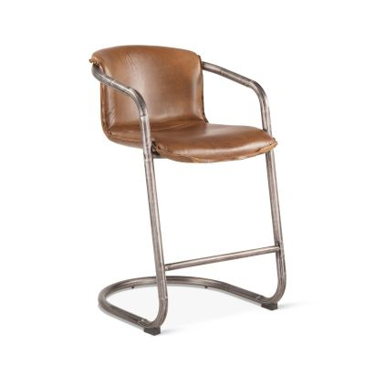 Portofino Leather Counter Chair Berham Chestnut