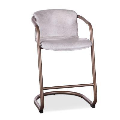 Portofino Leather Counter Chair Vintage White
