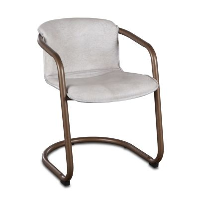 Portofino Leather Dining Chair Vintage White