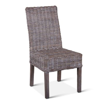 Kubu Rattan Dining Chair Whitewash