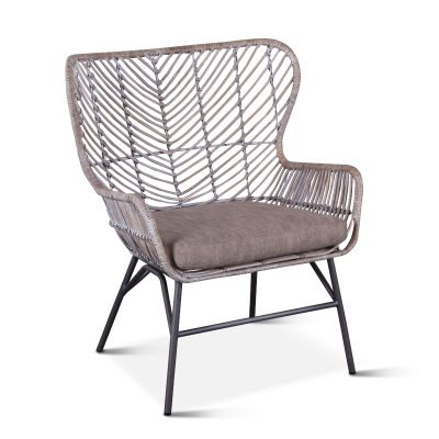 Kubu Accent Chair Gray Whitewash