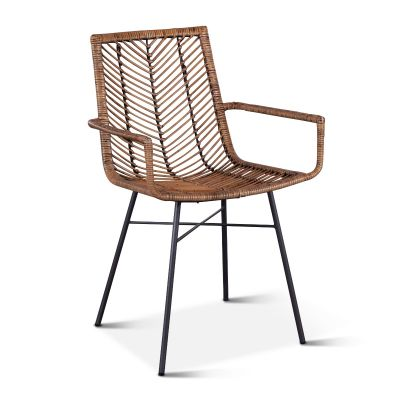 Kubu Dining Arm Chair Jawit Honey Brown