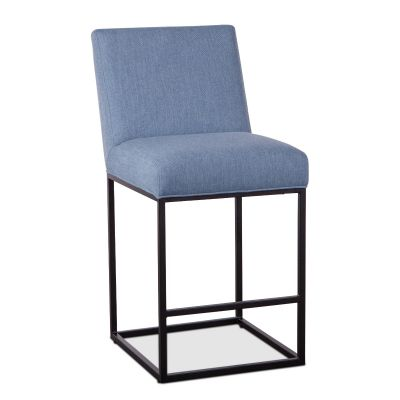 Renegade Denim Blue Linen Counter Chair