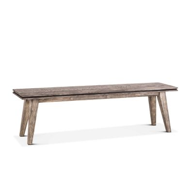"Driftwood 62"" Bench Weathered Graywash"