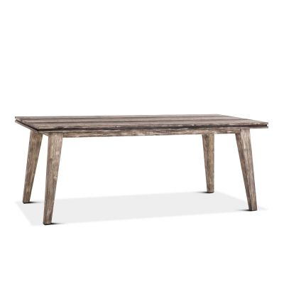 "Driftwood 78"" Dining Table Weathered Graywash"