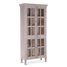 "Coral Gables 38"" Graywash Tall Cabinet"
