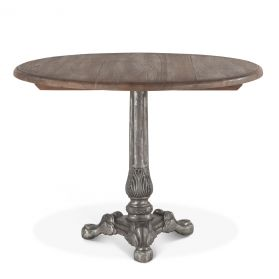 """French Vintage 40"""" Round Dining Weathered Gray"""