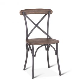 Hobbs Metal and Reclaimed Wood Dining Chair