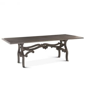 """Hobbs 90"""" Dining Table Weathered Gray"""