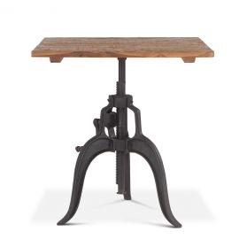 "Industrial Loft 30"" Adjustable Square Dining Table"