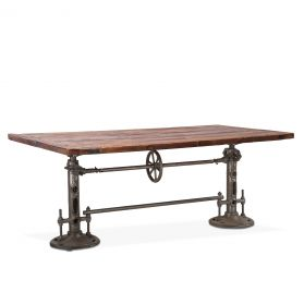"Industrial Loft 82"" Adjustable Dining Table"