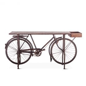 Industrial Teak Bicycle Console