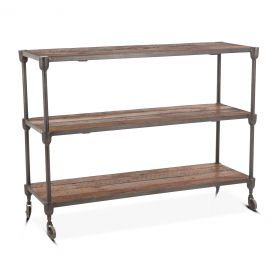 "Industrial Teak 50"" Console Table"