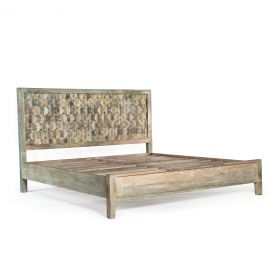 Ibiza Reclaimed Wood Queen Bed