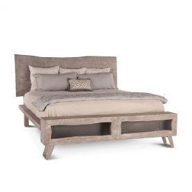 London Loft King Bed Weathered Gray