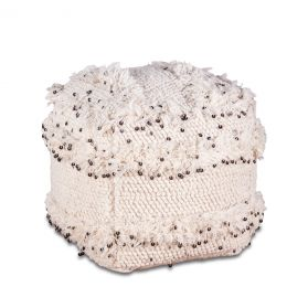 """Marrakech Upholstered 18"""" Square Ottoman with Sequins"""